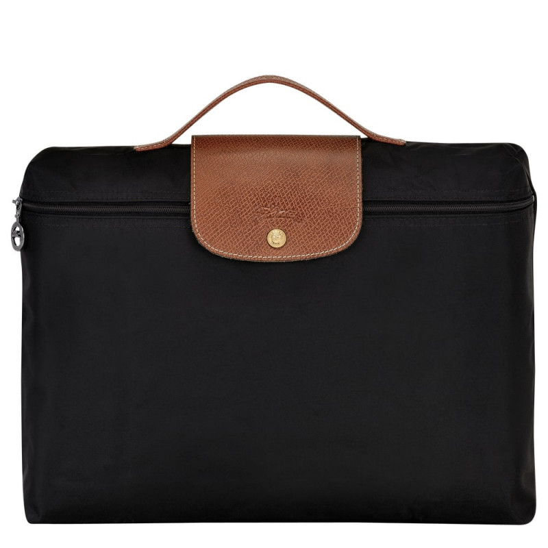 Porte-documents Le Pliage Longchamp L2182089 couleur noir vue de face