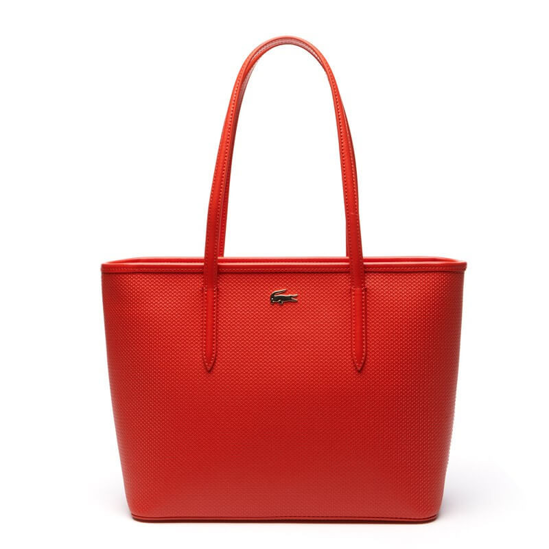 3b9d3ff0f9 Sac shopping zippé M chantaco - Lacoste femme Couleur Orange Ligne ...