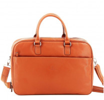 Porte-documents cuir femme Hexagona Confort Business 464837-1700 Orange