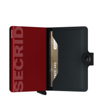 Porte-cartes Miniwallet Matte Secrid MM Black/Red ouvert