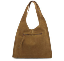 Grand sac hobo cuir velours Gerard Darel Cool Bag DMS05G4076905 Tabac Automne-Hiver 2020 dos