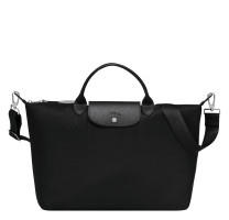 Grand sac porté main L Longchamp Le Pliage Néo L1630598001 Noir