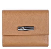 Portefeuille compact Longchamp Roseau Essential 30000968016 Naturel